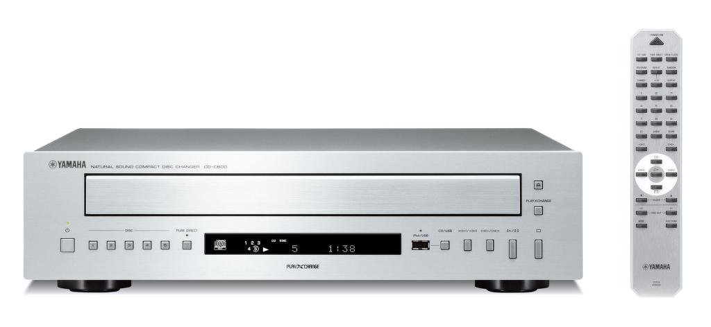 Přehrávač s několika možnostmi - YAMAHA CD-C600 BL