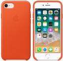 Apple kožené pouzdro pro iPhone 7/8, oranžová