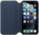 Apple Leather Folio knížkové pouzdro pro iPhone 11 Pro Max, modrá