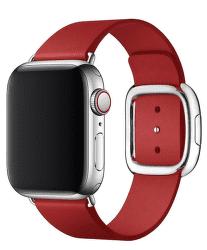 Apple Watch kožený řemínek 40/38 mm vel. L, (PRODUCT)RED