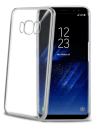 Celly Laser pouzdro pro Samsung Galaxy S8+, stříbrná