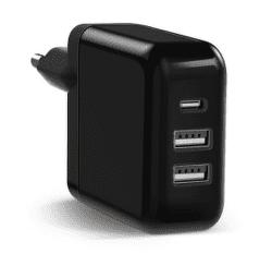Keyco 3in1 USB nabíječka, černá