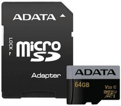 ADATA Premier Pro micro SDXC 64GB UHS-I U3 + adaptér vystavený kus splnou zárukou