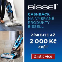 Cashback až 2 000 Kč na vybrané produkty Bissell