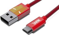 Tribe micro USB kabel 1,2m Iron Man, červená
