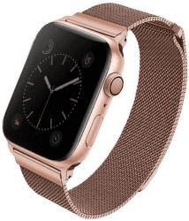 UNIQ Dante ocelový řemínek pro Apple Watch 44 mm, růžový