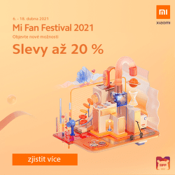 Xiaomi Mi Fan Festival 2021 - 20 % sleva na vybrané modely