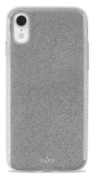 Puro Shine pouzdro pro Apple iPhone Xr, stříbrná