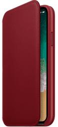 Apple kožené pouzdro Folio pro iPhone X, (PRODUCT)RED