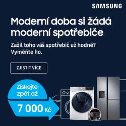 Cashback až 7 000 Kč na pračky nebo vysavače Samsung