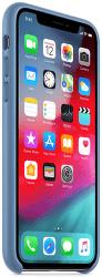 Apple kožený kryt pro iPhone Xs, modrý