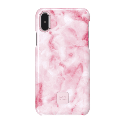 Happy Plugs Pink Marble iPhone X
