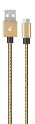 Aligator P5732 microUSB kabel 1m, zlatá