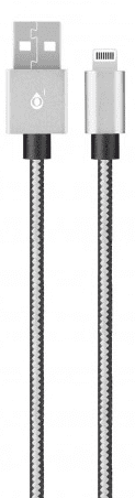 Aligator P5729 Lightning kabel 1m 2A, stříbrná