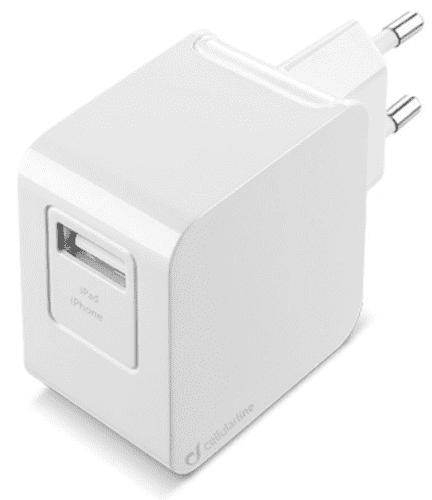 CellularLine Lightning cestovní nabíječka 2A, bílá