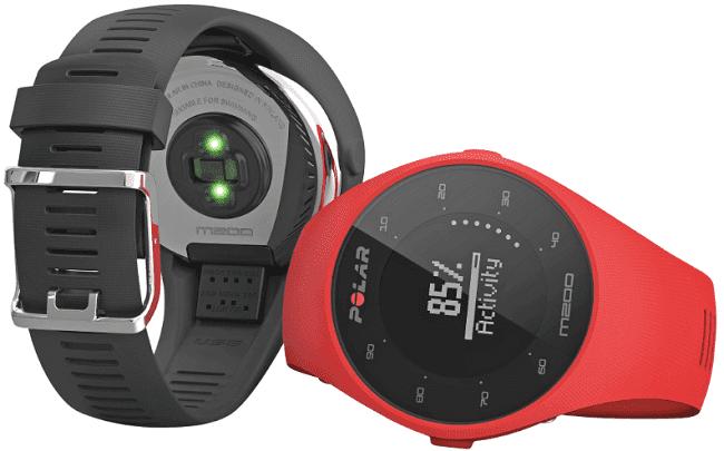 208069253 Polar M200 M/L černé + červený náhradní řemínek - chytré hodinky ...