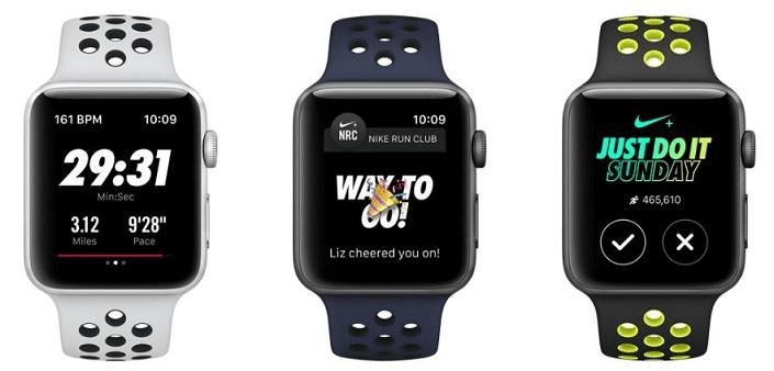 43487eb6c Apple Watch Series 3 Nike+ 42mm stříbrný hliník a platinový/černý ...