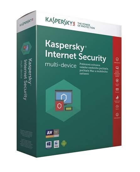 Kaspersky Internet Security 2017 3 licence / 1rok - 3 měsíce zdarma