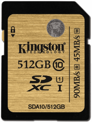 Kingston Ultimate SDXC 512GB Class 90 MB/s 10 UHS-I