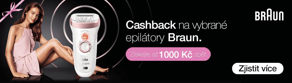 Cashback až 1 000 Kč na epilátory Braun