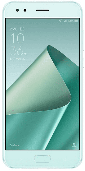Asus ZenFone 4, zelená