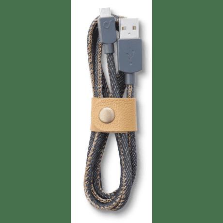 CellularLine LongLife Kabel s konektorem MicroUSB (jeans)