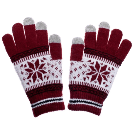 Aligator Nordic dámské rukavice na displej, červené