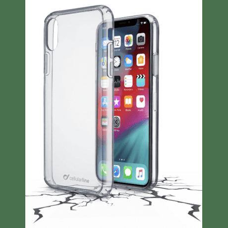 CellularLine Clear Duo zadní kryt pro Apple iPhone Xs Max, transparentní