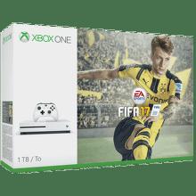 Microsoft Xbox One S 1TB + FIFA 17, 234-00046 (bílá)