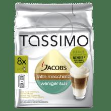 Tassimo Jacobs Latte Macchiato snížený obsah cukru (8ks)