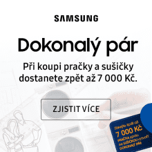 Dokonalý pár - až 7 000 Kč zpět při koupi setu pračka + sušička Samsung