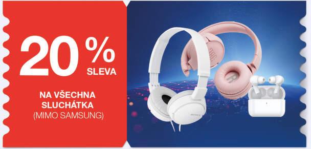 20 % sleva na všechna sluchátka (mimo Samsung)