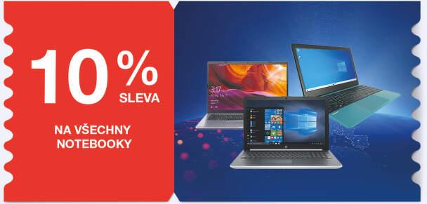 10 % sleva na všechny notebooky