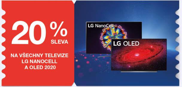 20 % sleva na všechny televize LG NanoCell a OLED (2020)