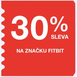 30 % sleva na značku Fitbit