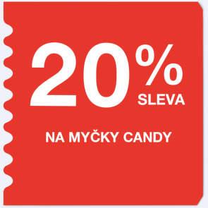 20 % sleva na myčky Candy