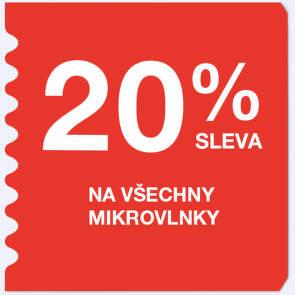 20 % sleva na všechny mikrovlnky