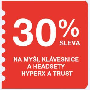 30 % sleva na myši, klávesnice a headsety HyperX a Trust