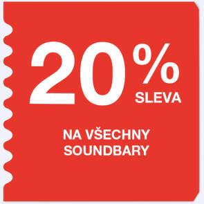 20 % sleva na všechny soundbary