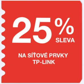 25 % sleva na síťové prvky TP-Link