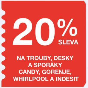 20 % sleva na trouby a desky a sporáky Candy, Gorenje, Whirlpool a Indesit