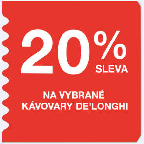 20 % sleva na vybrané kávovary De'Longhi