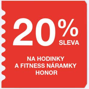20 % sleva na hodinky a fitness náramky Honor